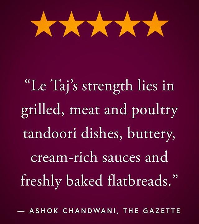 🤩🤩🤩 Avec des clients qui nous ont été loyaux tout comme nous avons travaillé à l'être envers eux, ainsi qu'à nos recettes classiques, nous espérons continuer notre chemin dans la maitrise de l'art culinaire et du service pour encore plusieurs années. #LeTaj