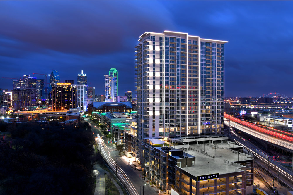RECENT PROJECT - The Katy in Victory Park l Dallas, TxDallas' tallest exclusive use apartment tower with 30 stories and 463 units. The property has received high claim, including being announced the winner of The Urban Multifamily Category for Best Real Estate Deals of 2018 by the Dallas Business Journal.