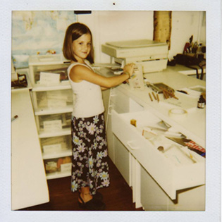 Organizing my mom's office circa 1997.