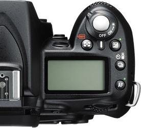 Nikon D90 Top View