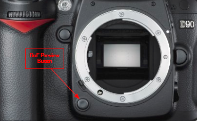 DOF Preview Button on Nikon D90 and D80