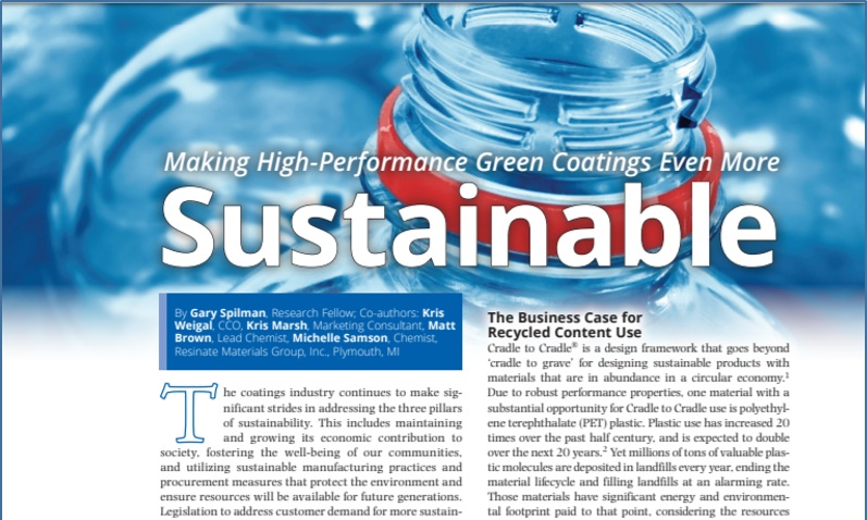 Resinate Materials Group - Brand Identity Standards - Media Relations - Technical Writing - Sell Sheets - Technical Data Sheets - Videos - Podcasts - Website Copy - Blogs - Marketing Communication Plan - Presentation DecksResinate Materials Group came to us in the early stages of launching their green chemistry technology. With our chemistry and manufacturing marketing experience, we were able to build a strong brand identity, an integrated, multimedia campaign and meaningful connections with trade media.