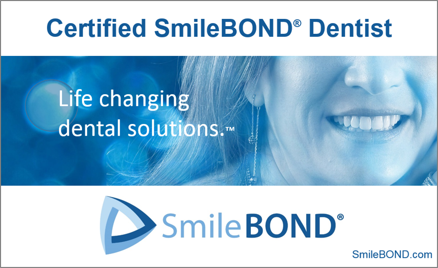 Window Clings - Design window clings that identify dental offices as SmileBOND providers. That was the mission of this piece. We integrated design elements of the website to maintain visual consistency. These looked great printed on window cling film!