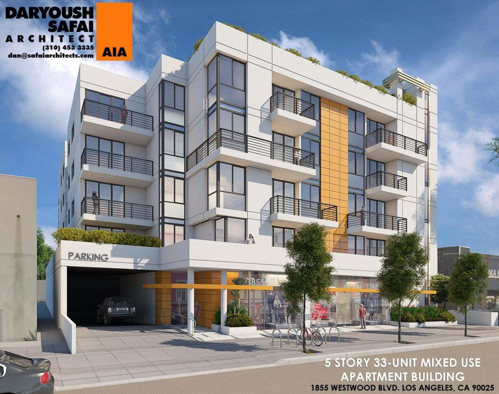 New Look for Proposed Westwood Apartments - Mixed-use building planned near the intersection of Santa Monica and Westwood Boulevards.