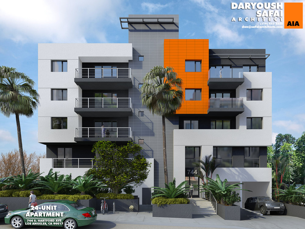 Apartments Wrapping Up Just West of DTLA - Five-story, 24-unit building comes to a formerly vacant lot.