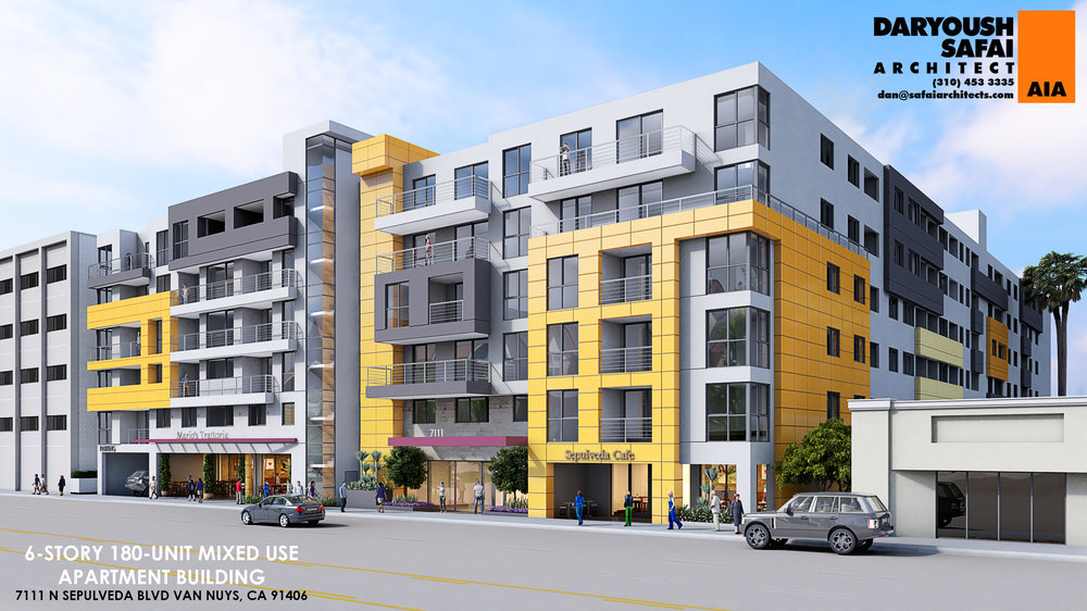Van Nuys Development to Break Ground in Early 2018 - Six-story building to feature 180 apartments over retail space.
