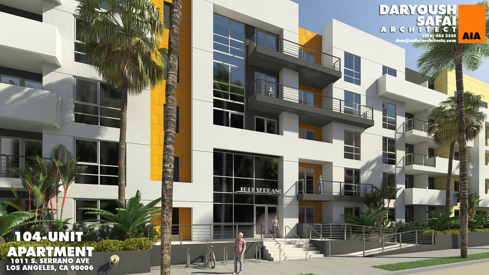 Five-Story Apartment Building Under Construction in Koreatown - The project will create 104 residential units.