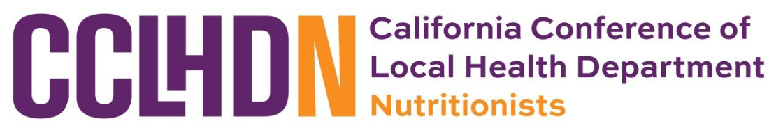 California Conference of Local Health Department Nutritionists
