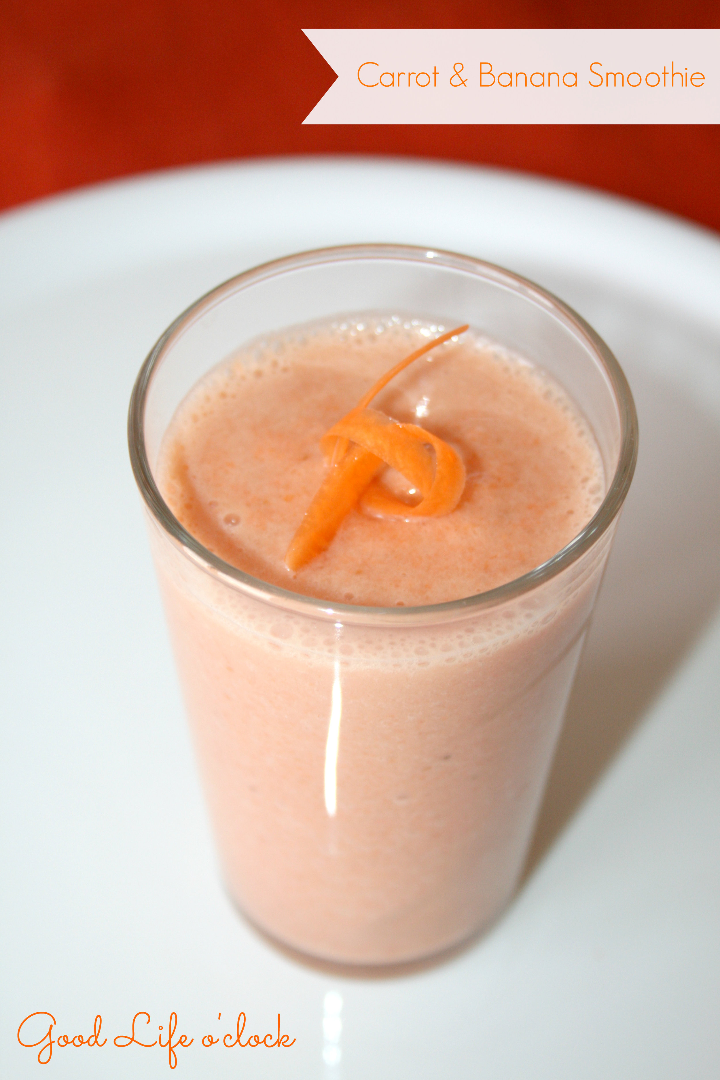 Carrot Banana Smoothie
