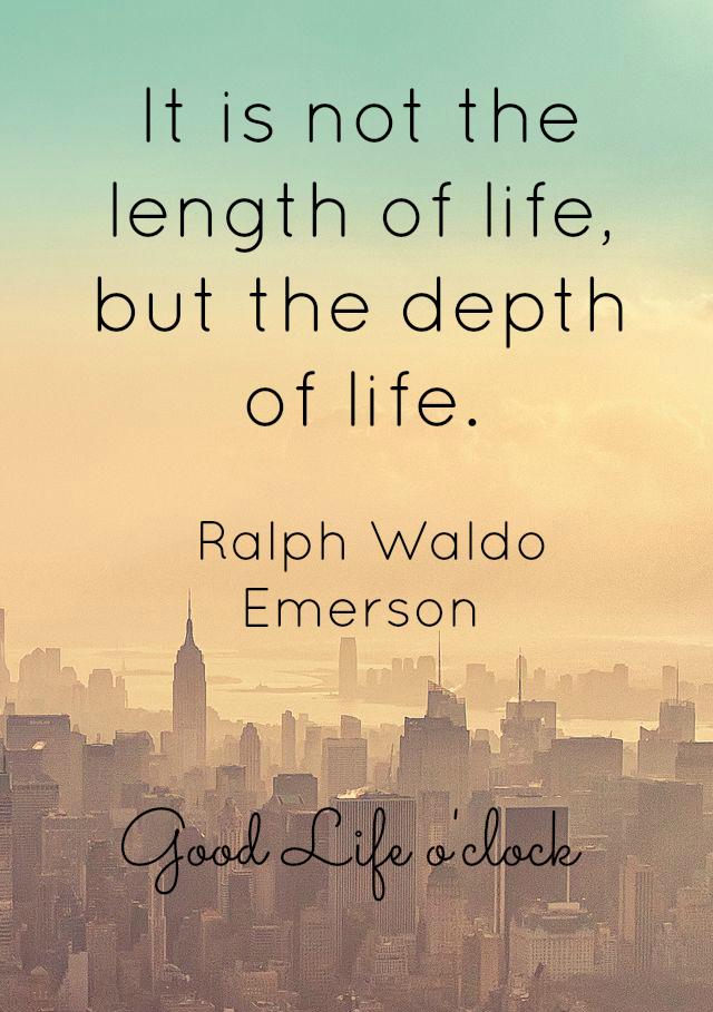 Life Quote - Ralph Waldo Emerson