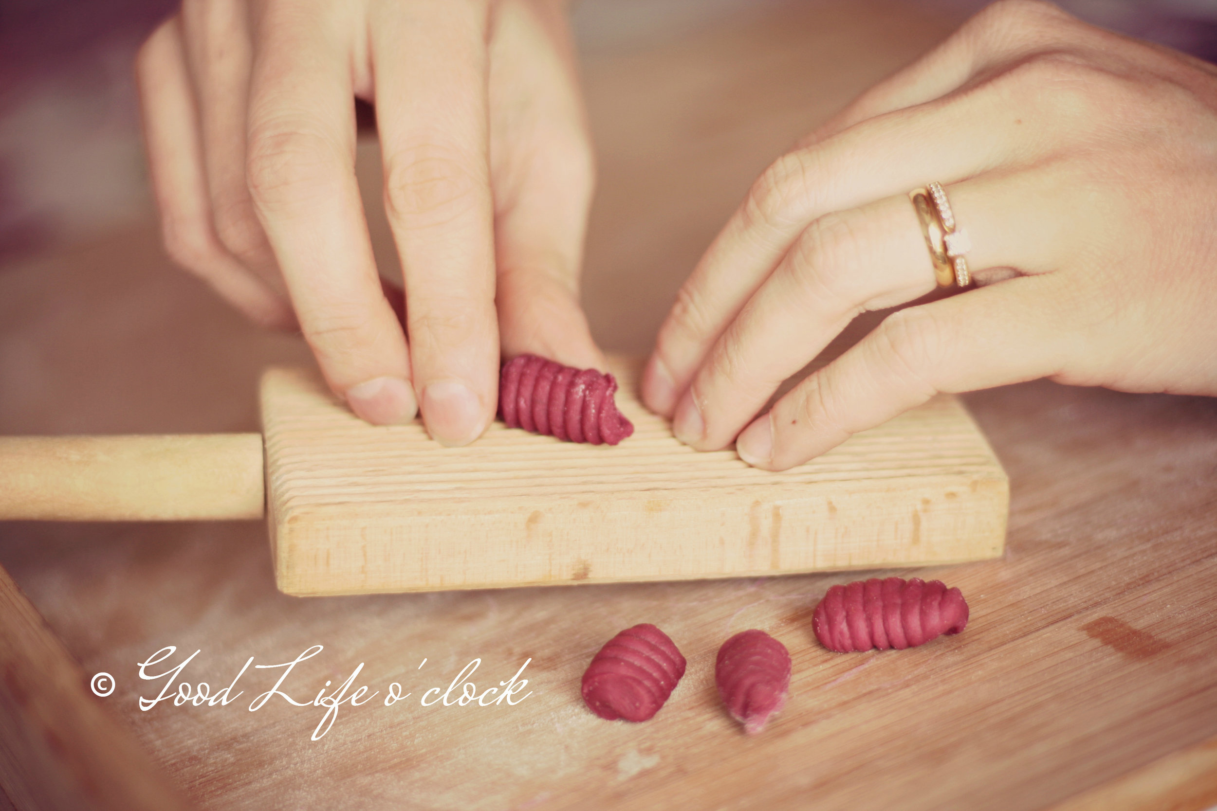 Gnocchi making process