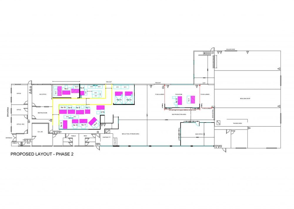Factory and office remodelling and concept design - Horsham manufacturing sector_5