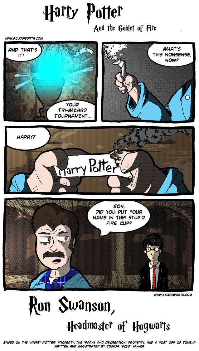 Ron Swanson - Hogwarts Headmaster - 1.jpg