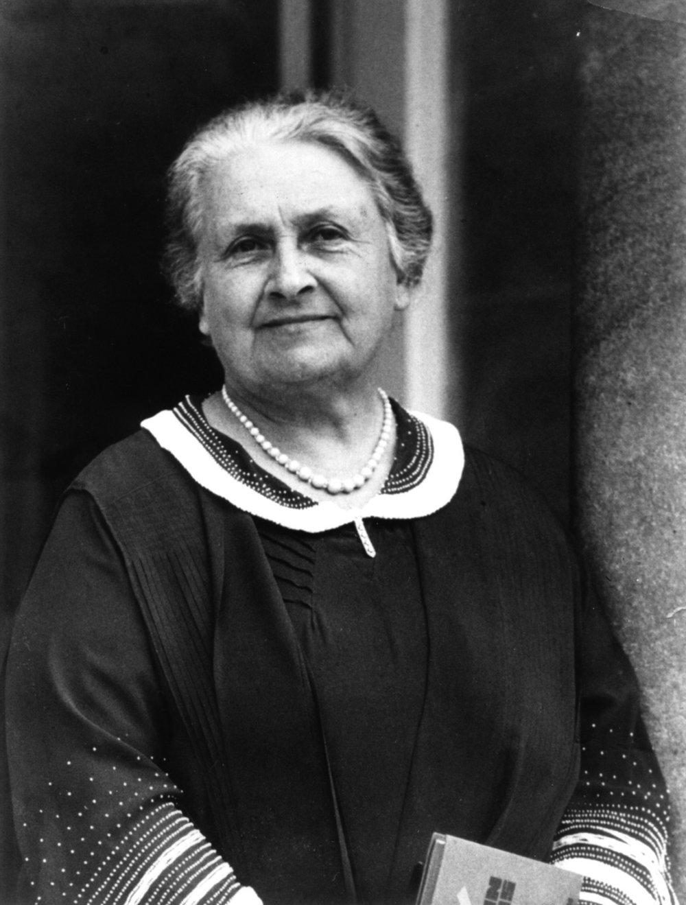 Maria Montessori in 1936. Image courtesy of  Montessori Centenary .