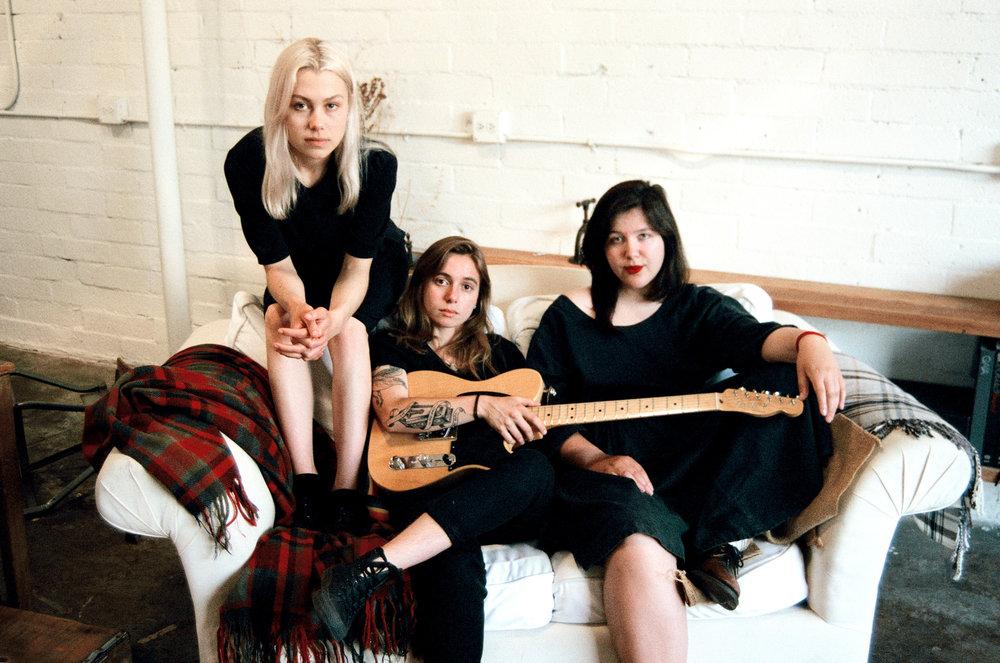 boygenius: Phoebe Bridgers, Julien Baker, and Lucy Dacus.