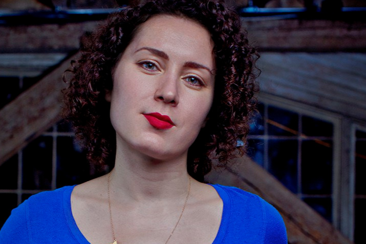Maria Popova.  Figuring  is as much a symphony of others' voices as it is her own. Photo by Allan Amato.
