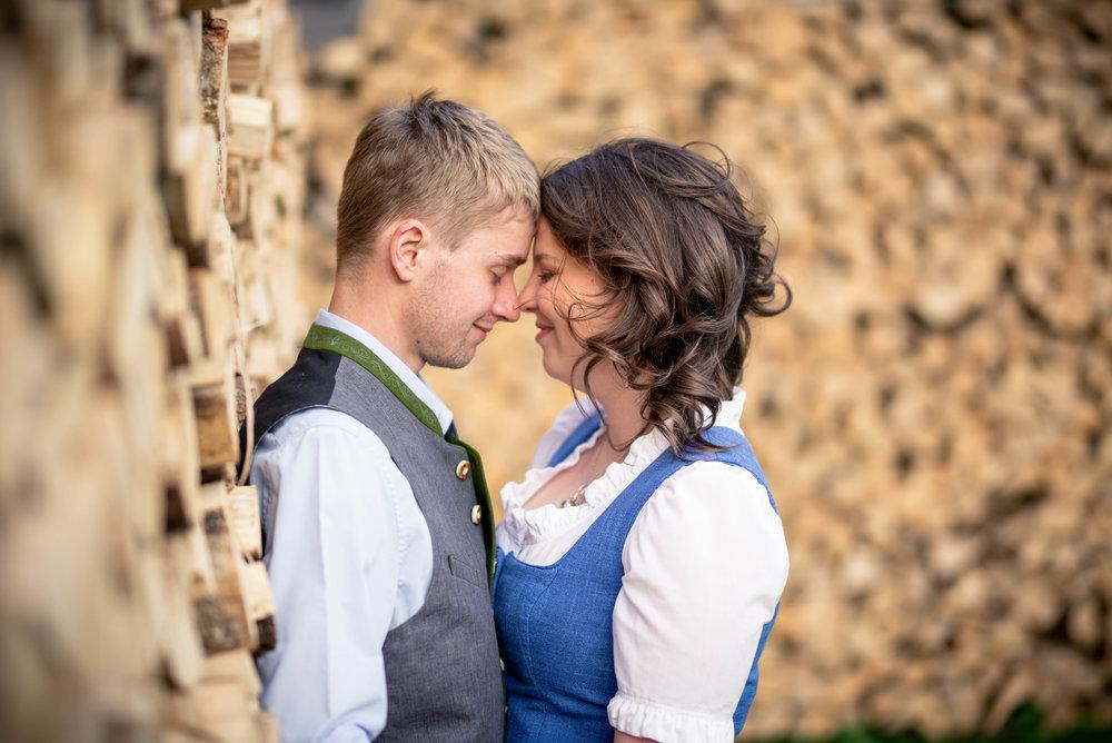 Shooting in den Bergen - Couple