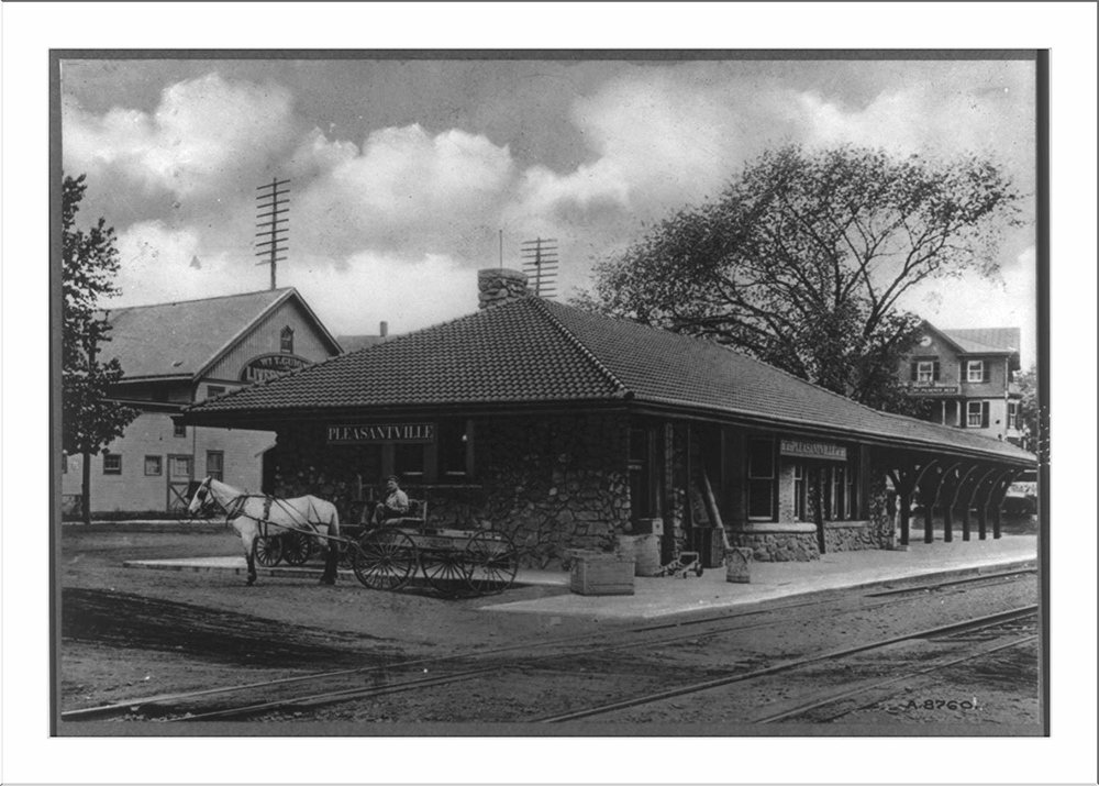 Pleasantville Train Station Circa 1900's - We are thrilled to call the hub of Pleasantville, its bustling trainstation home. Embracing the rich history of the wonderful building, ensuring that it is admired and cherished by the community for years to come.