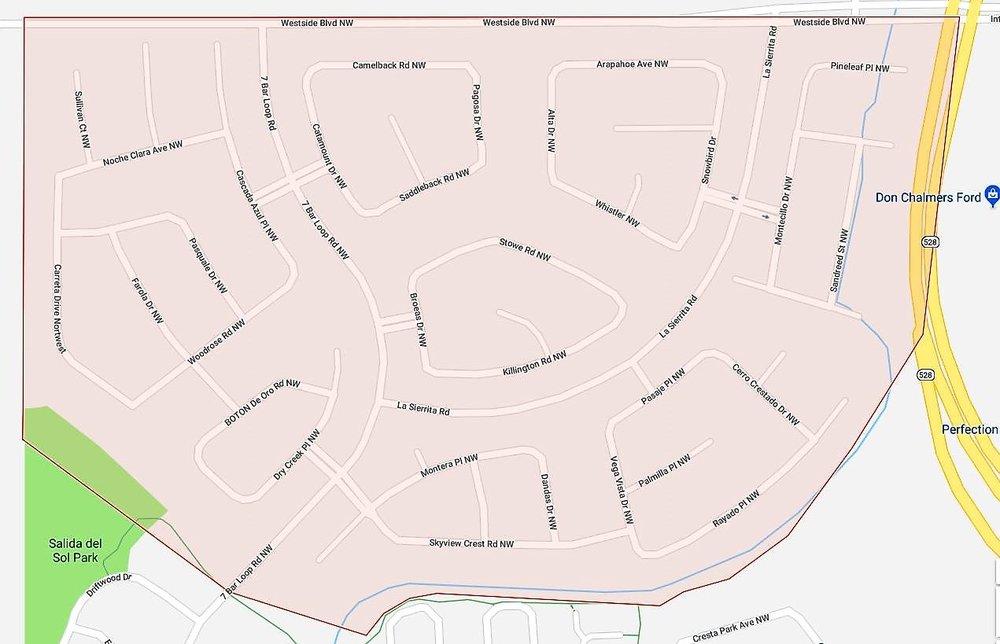 7 Bar North HOA Map