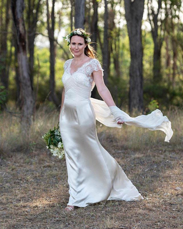 When Kristina walked down the aisle she did it in this gorgeous gown that was actually worn by her sister 10 years earlier.