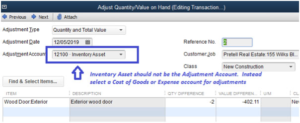 Adjustment Account on Inventory Adjustment example vector business solutions.jpg