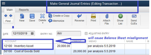 Journal Entry that posts to Inventory Asset vector business solutions.jpg