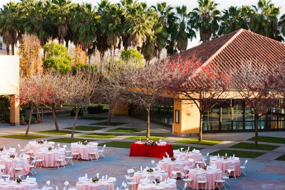 Rentals - The plaza is a large open courtyard centrally located within the facility ideal for events larger than 500+ guests.