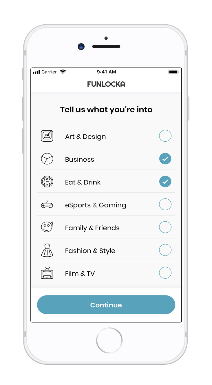 Selective - Choose what you love and dictate what the app finds for you, with the ability to change preferences whenever it suits you