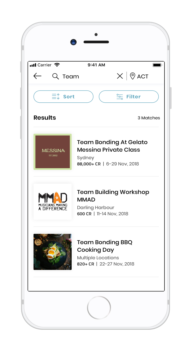 Search - Detailed search function allows you to explore experiences based on your specific needs