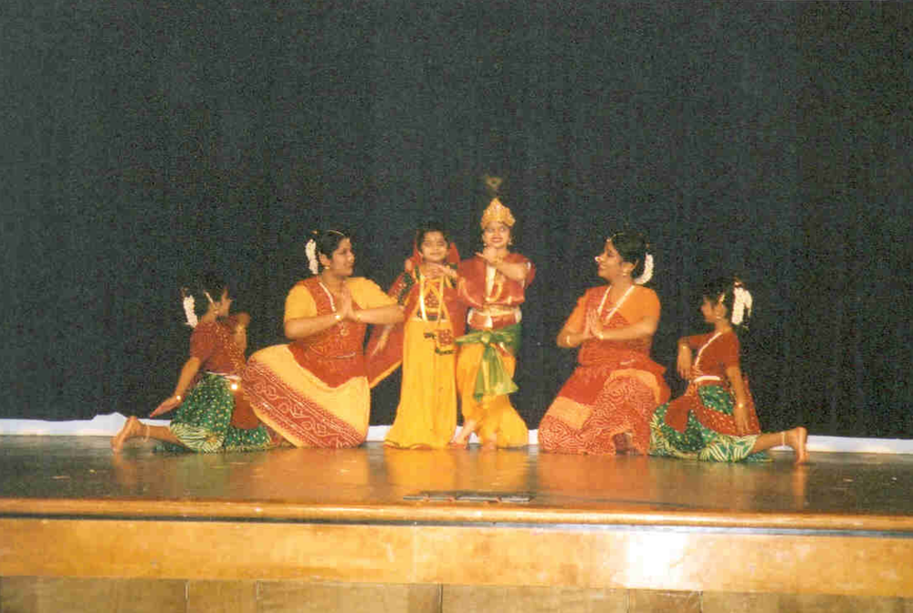 Silambam students perform at the Meenakshi temple, 2005.
