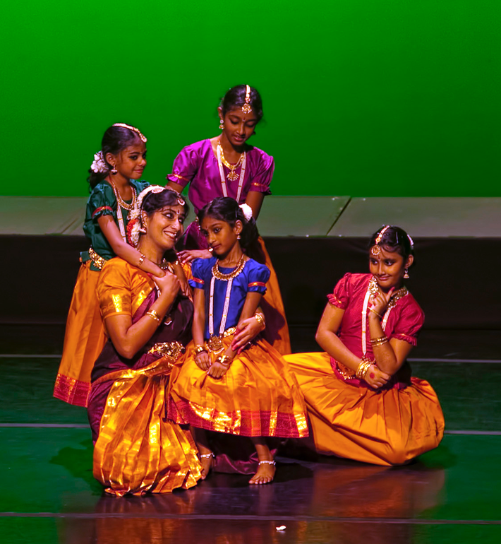 Students with their Guru at Silambam's 10th anniversary celebrations in 2012.