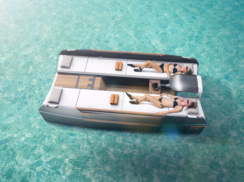 INTRODUCING LITORE ONE - Litore one is the first electric day-cruiser powered by Torqeedo Travel motor. The elegant multihull combines the space and comfort up to 5 people with a range suitable for everyday use, catapulting the passengers into a new era of easy boating.Forward-looking, innovative, and electric – the next step into easy boating.