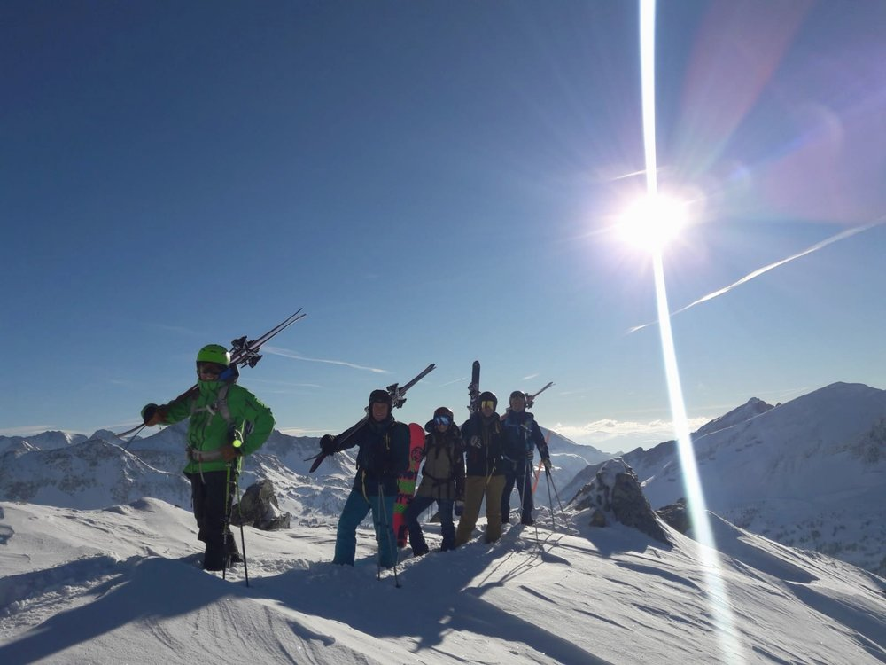 Photo Credit: Let's Go Freeriding (pictured: Philipp Baier,  Adrian Hewlett ,  Julia Dujmovits ,  Brett Macfarlane ,  Gerry Haag