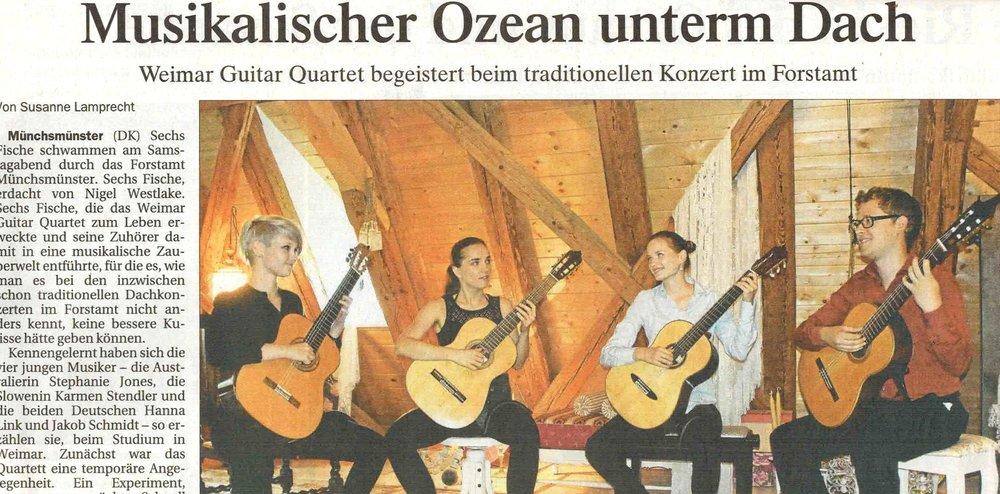 Musikalischer Ozean unterm Dach - Susanne lamprecht, august 2017, Donaukurier