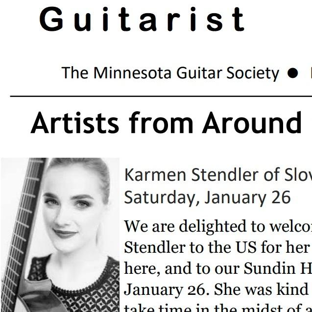 Interview for Minnesota Guitar Society - Paul Hintz (MGS), Januar 2019