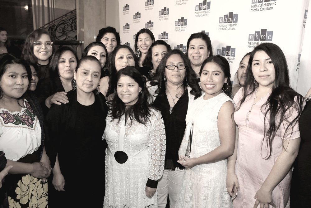 NHMC Impact Awards, Yalitza Aparicio with NDWA and CACEH leaders and domestic worker members.