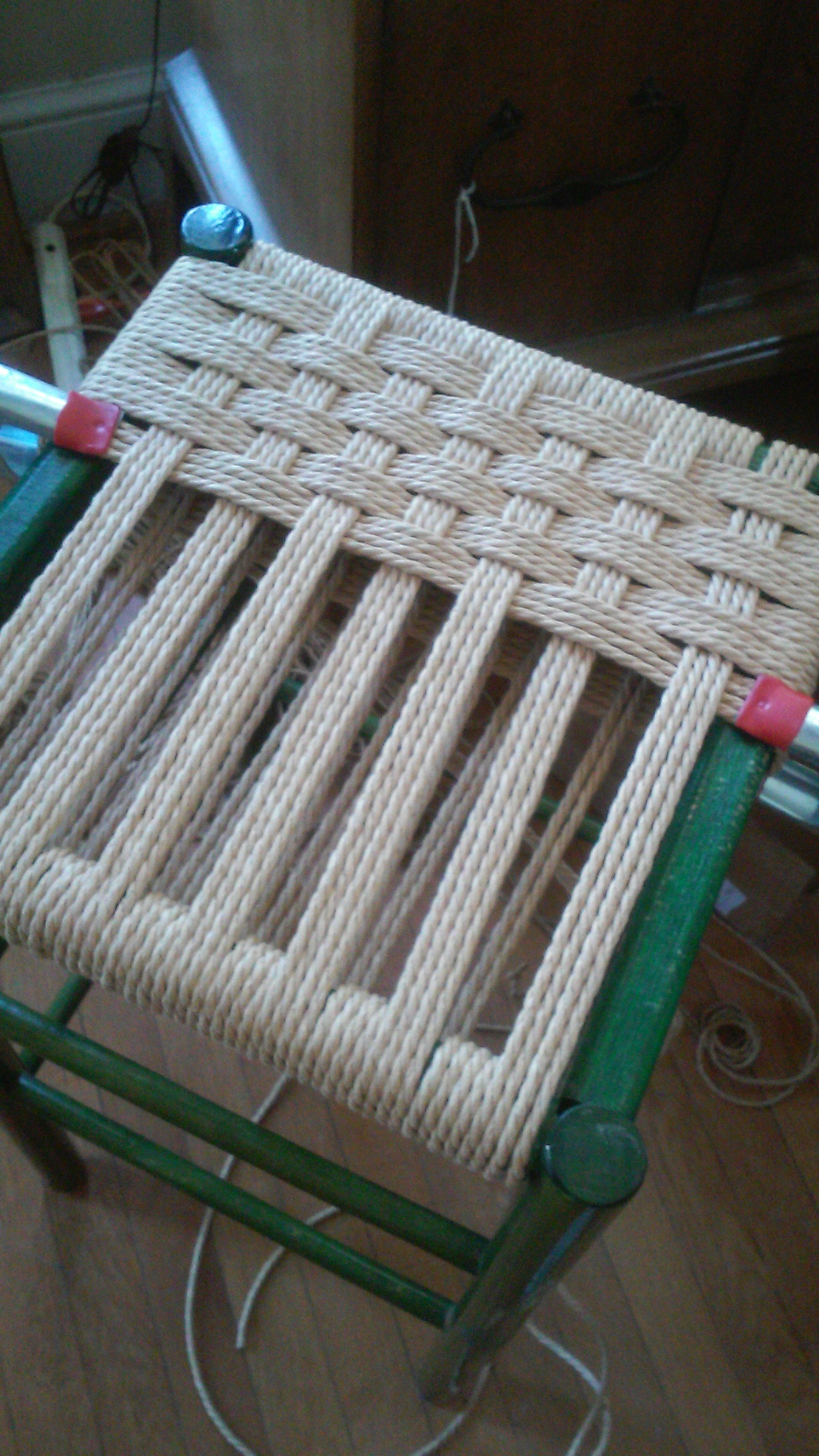 Danish Cord weave, halfway through