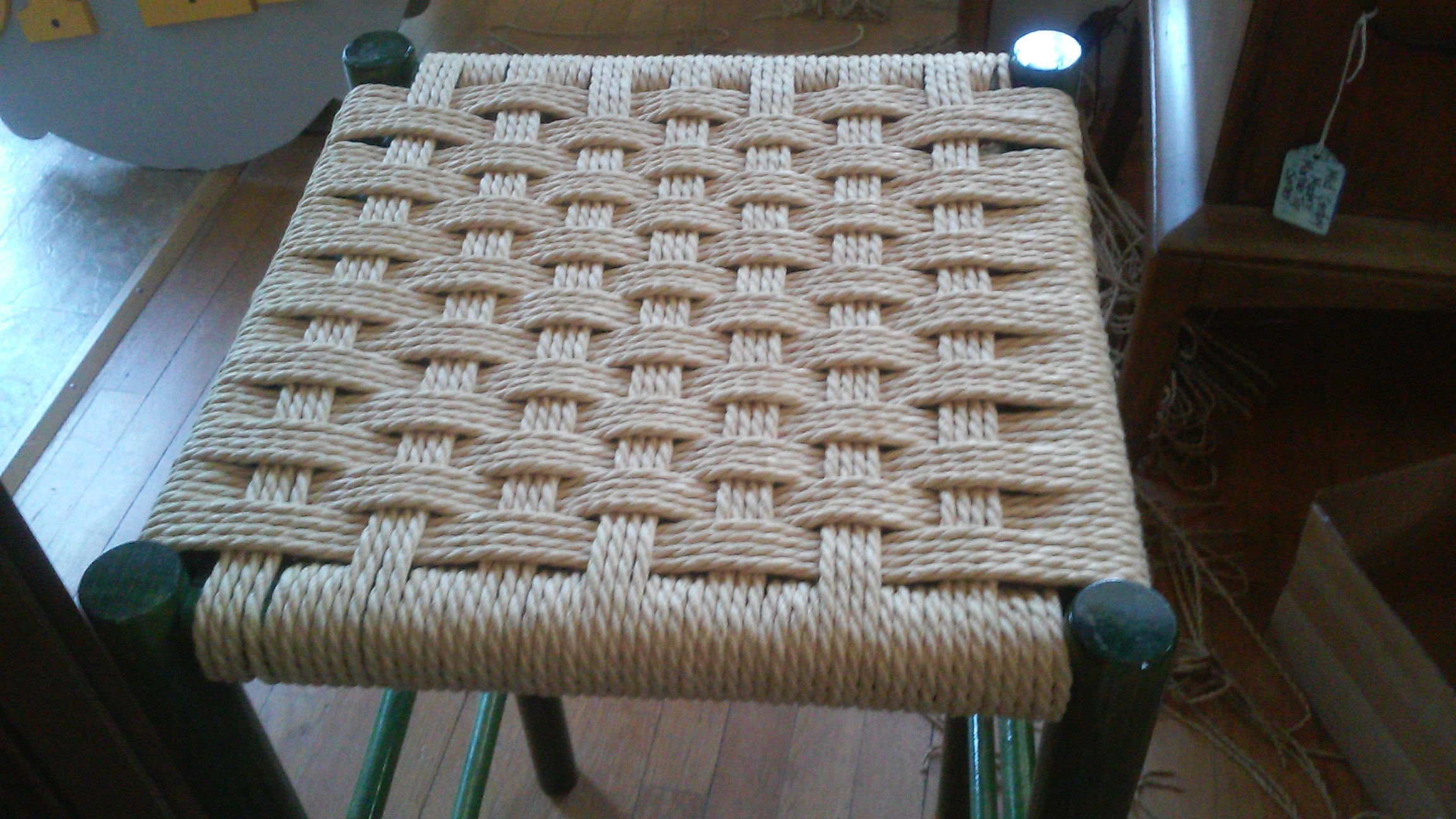 completed Danish Cord Stool
