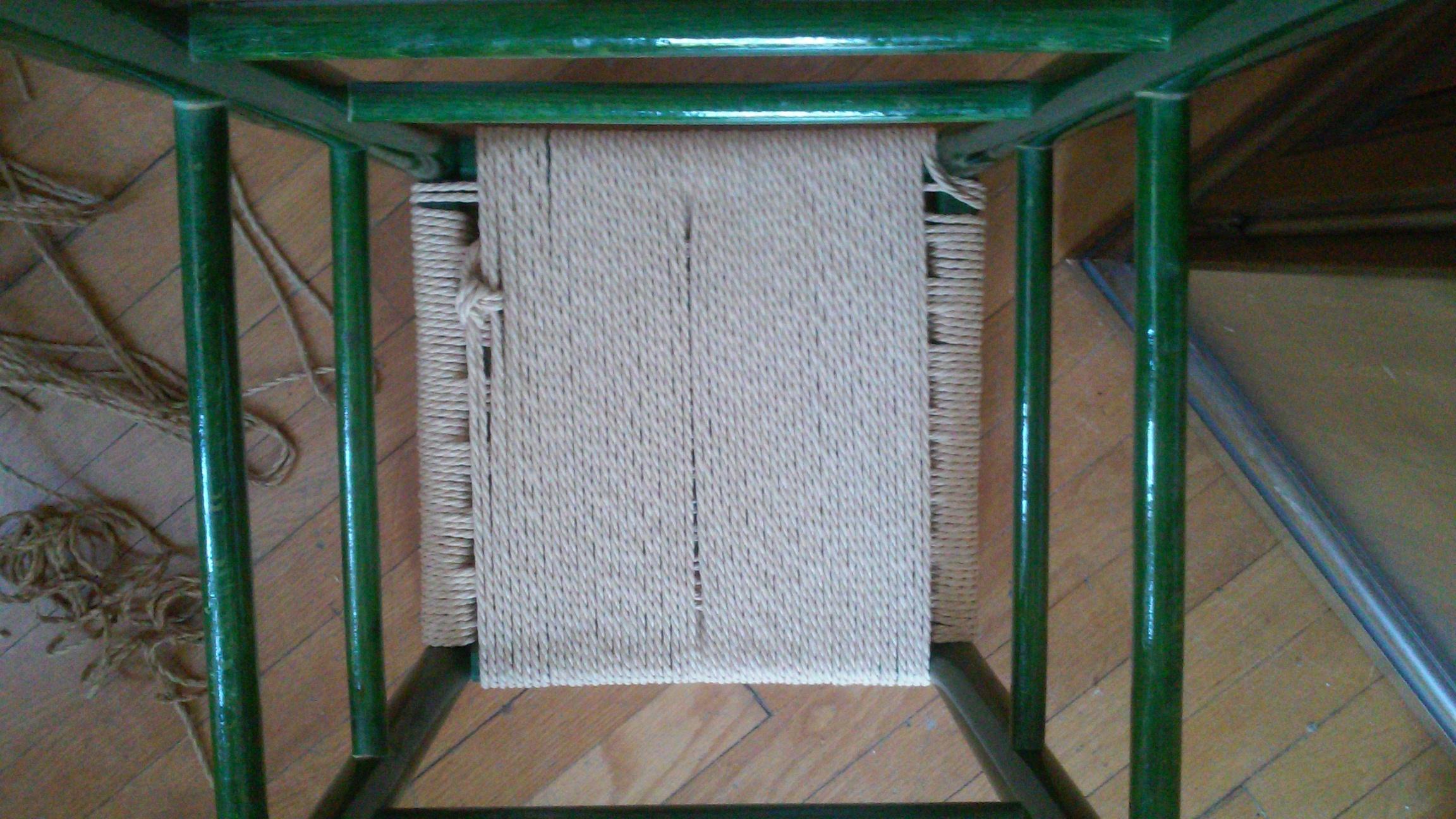 Underside off the Danish Cord stool