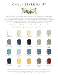 General Finishes Chalk Paint Color Pallette