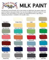 Generla Finishes Milk Paint Color Palette