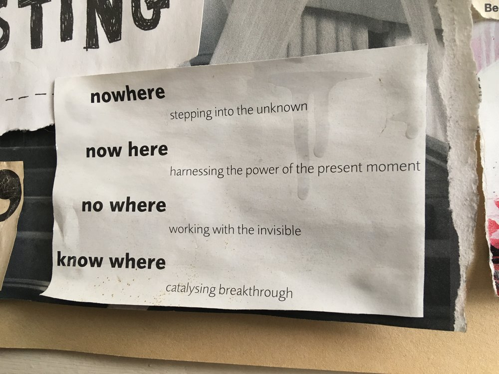 'The Way of Nowhere: 8 Questions to Release Our / My Creative Potential' — by Nick Udall & Nic Turner