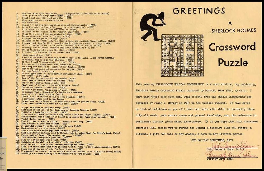 Click image to read Shaw's explanation about this first Christmas greeting from Santa Fe, NM.