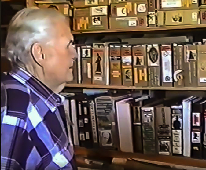 Image of Shaw taken from Steve Robinson's 8-mm video from a 1991 visit to Santa Fe.
