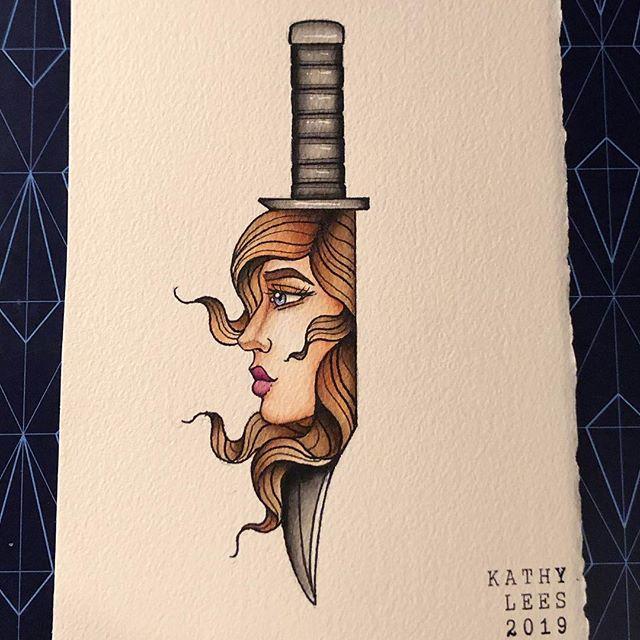 #drawing #sketching #sketchbook #archespaper #painting #knife #girlhead #tattoo #liquitex #ink #watercolor #windsorandnewton #watercolour