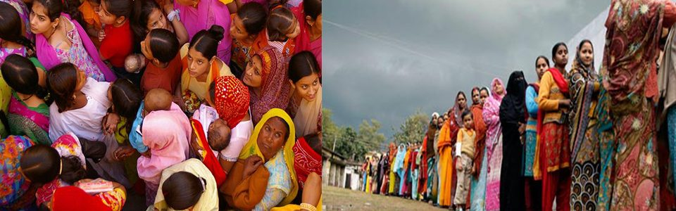 The situation of women queues - Images from various internet resources