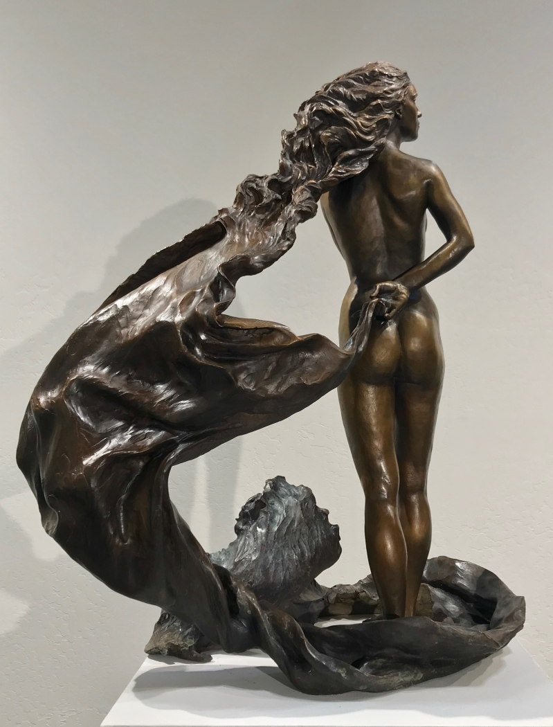 """Wind and The Water"" Bronze,  31"""