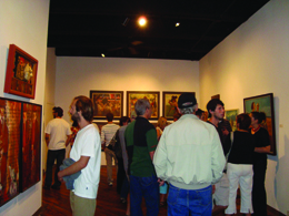 people at a gallery