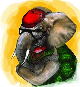 conservative republican elephant illustration