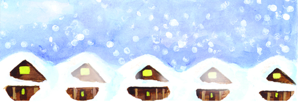 houses covered in snow
